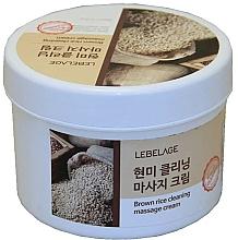 Profumi e cosmetici Crema da massaggio con riso integrale - Lebelage Brown Rice Cleaning Massage Cream