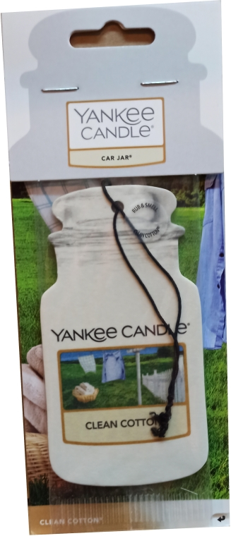 Profumo per auto - Yankee Candle Car Jar Clean Cotton