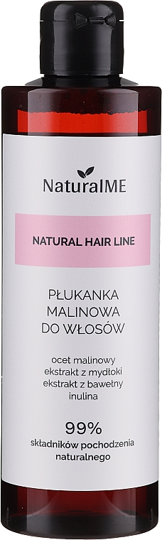 Risciacquo per capelli e cuoio capelluto inclini alla forfora con aceto di lamponi - NaturalME Natural Hair Line Balm