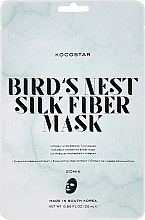 "Profumi e cosmetici Maschera dermatoscopica ""Nido di Salangan"" - Kocostar Bird's Nest Silk Fiber Mask"