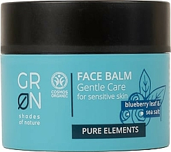Profumi e cosmetici Balsamo viso - GRN Pure Elements Blueberry & Sea Salt Face Balm