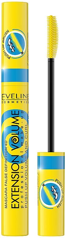 Mascara volumizzante - Eveline Cosmetics False Definition 4D Extension Volume Push Up Volume And Curl Mascara