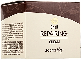 Profumi e cosmetici Crema viso riparatrice con bava di lumaca - Secret Key Snail + EGF Repairing Cream