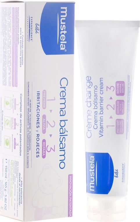 Crema protettiva per il cambio pannolino con vitamine 1 2 3 - Mustela Bebe 1 2 3 Vitamin Barrier Cream