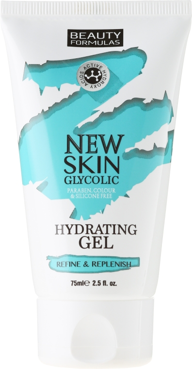Gel viso idratante con acido glicolico - Beauty Formulas New Skin Glycolic Hydrating Gel