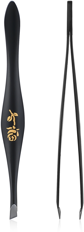 Pinzetta per sopracciglia a forma di pera, 499289, nera - Inter-Vion Rose Around Pear