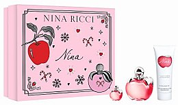 Profumi e cosmetici Nina Ricci Nina - Set (edt/50ml + b/lot/75ml + edt/4ml)