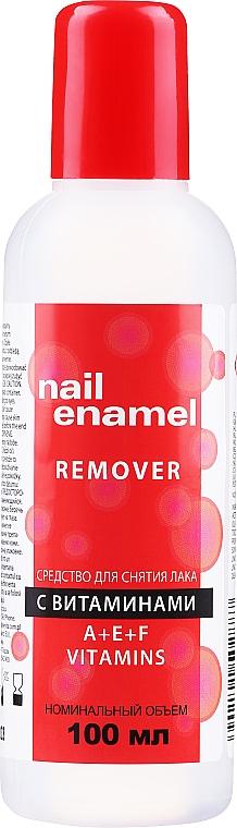 Solvente vitaminico per unghie - Venita Vitamin A+E+F Nail Enamel Remover — foto N1