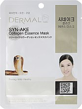 Profumi e cosmetici Maschera con collagene e peptidi - Dermal Syn-Ake Collagen Essence Mask