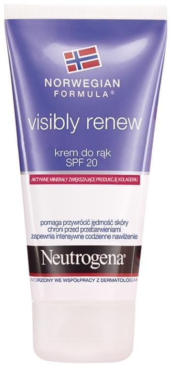 Crema mani rigenerante SPF 20 - Neutrogena Visibly Renew Hand Cream