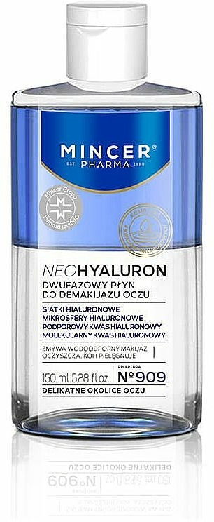Struccante bifasico per occhi - Mincer Pharma Neo Hyaluron 909 — foto N1