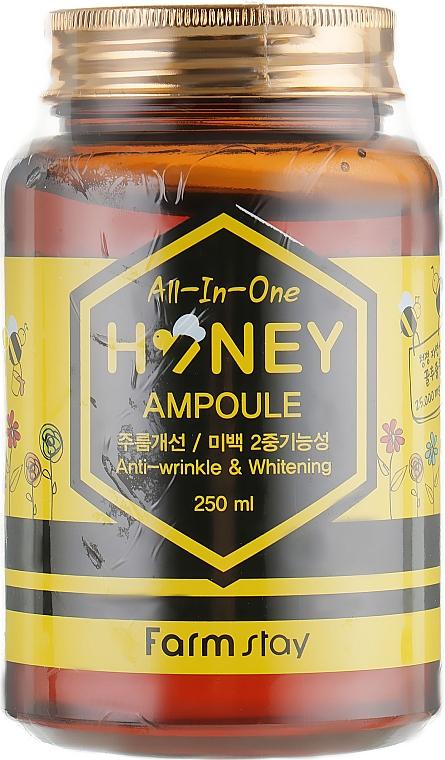Siero viso multifunzionale al miele - FarmStay All-In-One Honey Ampoule — foto N2