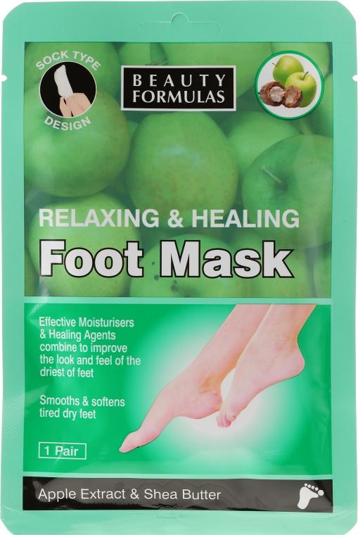 Maschera rilassante per piedi - Beauty Formulas Relaxing And Healing Foot Mask