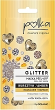 Profumi e cosmetici Maschera esfoliante all'ambra - Polka Glitter Peel Off Mask Amber
