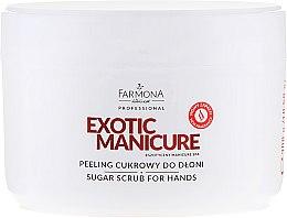 Profumi e cosmetici Scrub mani allo zucchero - Farmona Egzotic Manicure Scrub