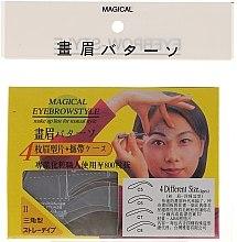 Profumi e cosmetici Stencil per sopracciglia, C5, C6, C7, C8 - Magical Eyebrow Style