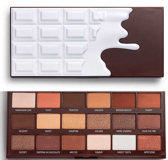 Palette ombretti - I Heart Revolution Chocolate Eyeshadow Palette Chocolate Smores