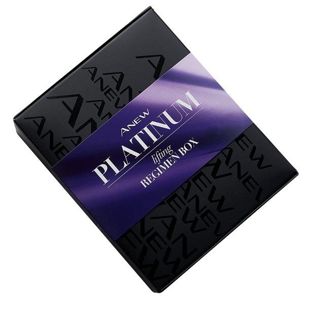 Set - Avon Anew Platinum Lifting Regimen Box (cr/2x10ml+cr/50ml+cr/50ml+msk/75ml) — foto N2