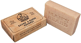 Profumi e cosmetici Sapone da barba esfoliante al cocco - Man's Beard Savon Exfoliant Coconut Soap