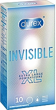 Profumi e cosmetici Profilattici, 10 pz - Durex Invisible Extra Large