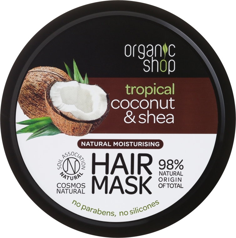Maschera capelli idratante - Organic Shop Coconut & Shea Moisturising Hair Mask