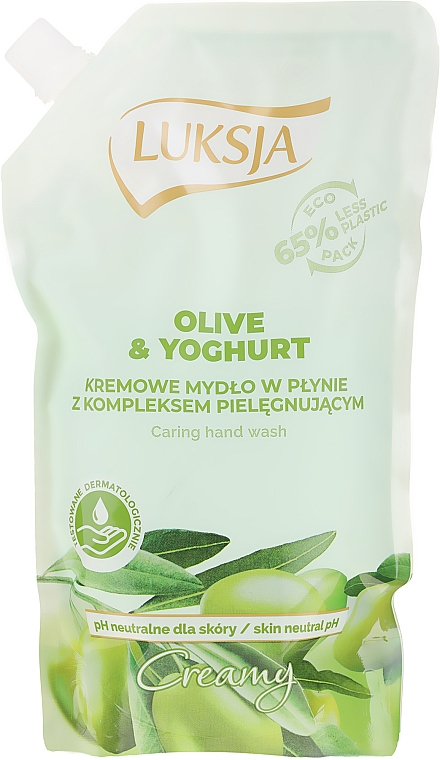 "Sapone liquido ""Olio d'oliva e yogurt"" - Luksja Creamy Olive & Yogurt Soap (doypack) — foto N1"