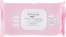 Profumi e cosmetici Salviette detergenti per viso, 40 pz - Byphasse Make-up Remover Wipes Milk Proteins All Skin Types