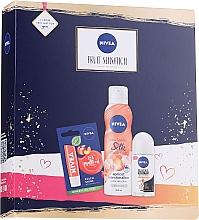 Profumi e cosmetici Set - Nivea Fruit Sensation Set (sh/mousse/200ml + deo/roll-on/50ml + lip/balm/5.5ml)