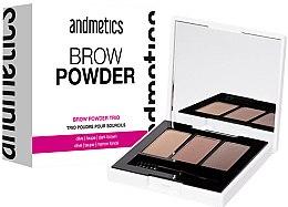 Profumi e cosmetici Ombretto per sopracciglia - Andmetics Brow Powder Trio