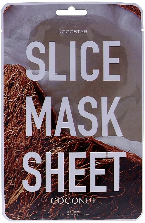 "Maschera viso ""Cocco"" - Kocostar Slice Mask Sheet Coconut — foto N1"