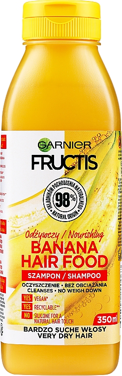 """Shampoo nutriente per capelli molto secchi """"Banana"""" - Garnier Fructis Superfood"""