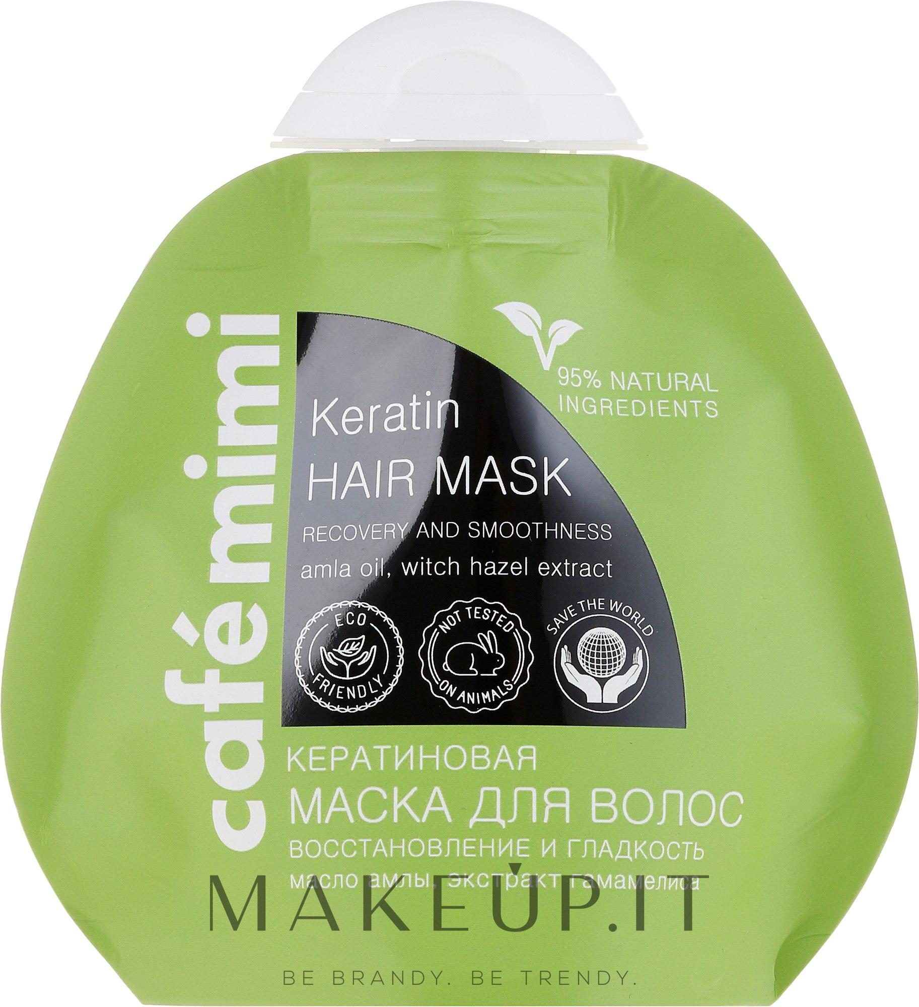"""Maschera per capelli alla cheratina """"Restauro, lucentezza e morbidezza dei capelli"""" - Cafe Mimi Keratin Hair Mask — foto 100 ml"""