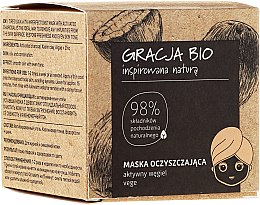 Profumi e cosmetici Maschera al carbone attivo - Gracja Bio