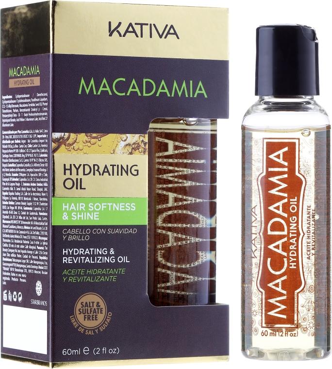 Olio rigenerante per capelli normali e danneggiati - Kativa Macadamia Hydrating Oil — foto N1