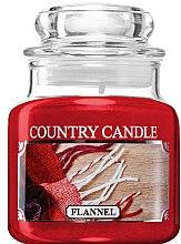 Profumi e cosmetici Candela profumata in vetro - Country Candle Flannel