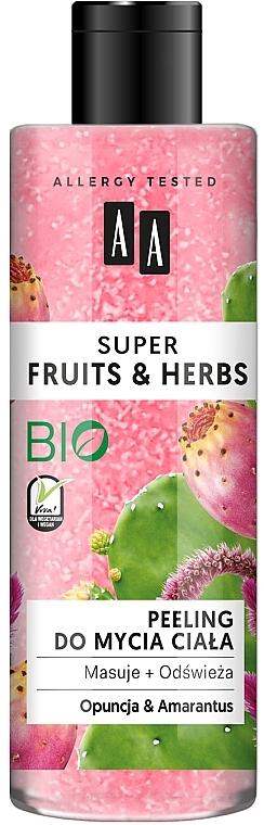 "Peeling corpo ""Opuntia e amaranto"" - AA Super Fruits & Herbs"