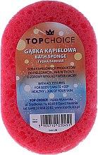 Profumi e cosmetici Spugna da bagno 30451, rosa-giallo - Top Choice
