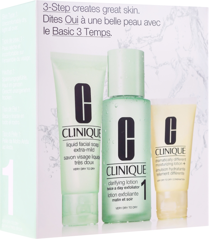 Set - Clinique 3-Step System Type I (soap/50ml + lot/100ml + lot/30ml)