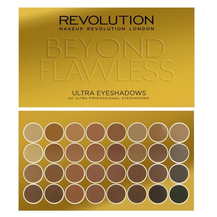 Palette di ombretti, 32 tonalità - Makeup Revolution Ultra 32 Shade Palette Beyond Flawless