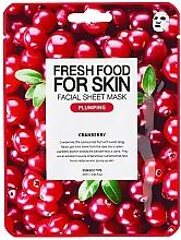"Profumi e cosmetici Maschera viso in tessuto ""Cranberry"" - Superfood For Skin Facial Sheet Mask Cranberry Plumping"