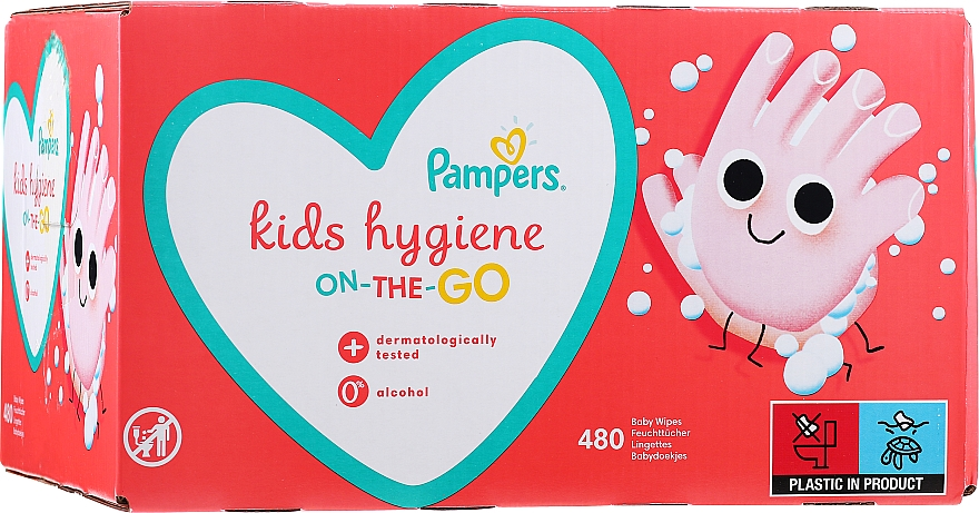 Salviettine umidificate per bambini , 12x40 pz - Pampers Kids On The Go