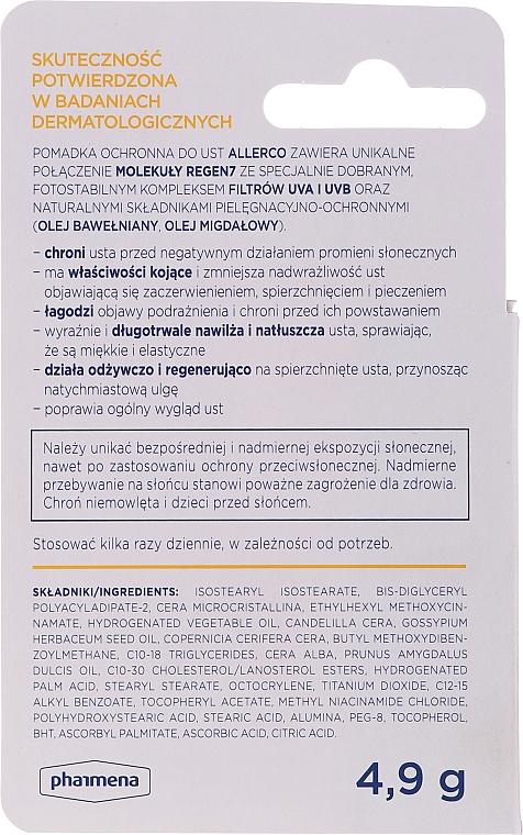 Rossetto protettivo con filtri UVA / UVB - Allerco Emolienty Molecule Regen7 Lip Balm SPF30 — foto N3