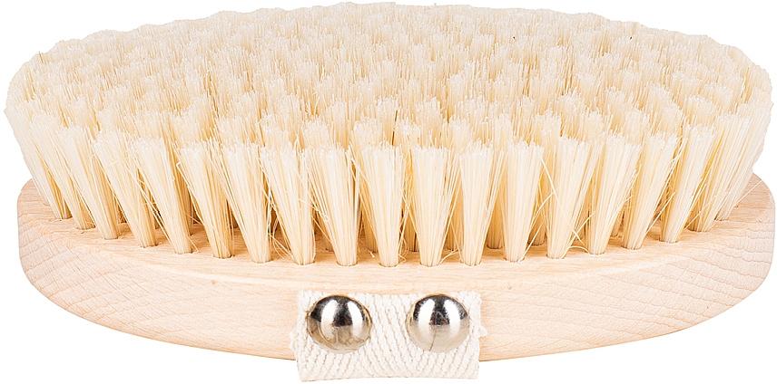 Spazzola per massaggio e lavaggio del corpo fibra morbida, marrone chiaro - Miamed