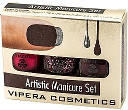 Profumi e cosmetici Set smalti - Vipera Set Artistic Manicure (n/pol/5,5mlx3) (02-Poetic)