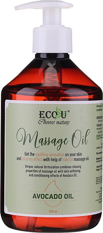 Olio per massaggi - Eco U Avocado Massage Oil