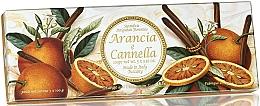 """Profumi e cosmetici Set di sapone naturale """"Arancia e Cannella"""" - Saponificio Artigianale Fiorentino Orange & Cinnamon (3 x 100g)"""