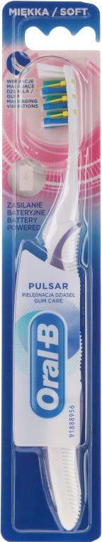 Spazzolino da denti ricaricabile, morbido, bianco-viola - Oral-B Pulsar Sensitive&Gum Care