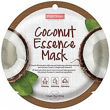Profumi e cosmetici Maschera viso con estratto di cocco - Purederm Coconut Essence Mask