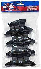 Profumi e cosmetici Fermacapelli Coccodrillo, nero, L, 12 pz, RA 00073 - Ronney Professional Hair Clip
