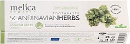 Profumi e cosmetici Dentifricio - Melica Organic Toothpaste Scandinavian Herbs With Iceland Moss Extract